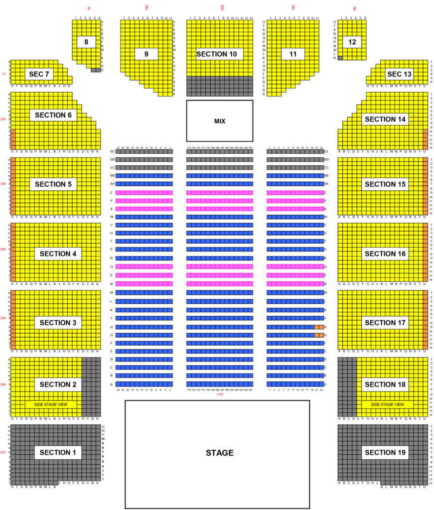 Event Center Arena Seating Chart