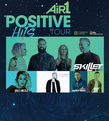 Air 1 Positive Hits Tour: Skillet, Britt Nicole, Colton Dixon & Tauren Wells at Event Center Arena